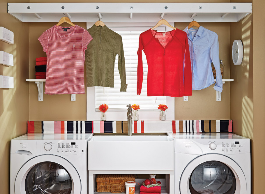 Create your own organized laundry space with fresh colors, easy-to-build projects, and simple decor tips!