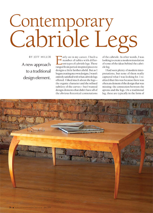 Contemporary Cabriole Legs