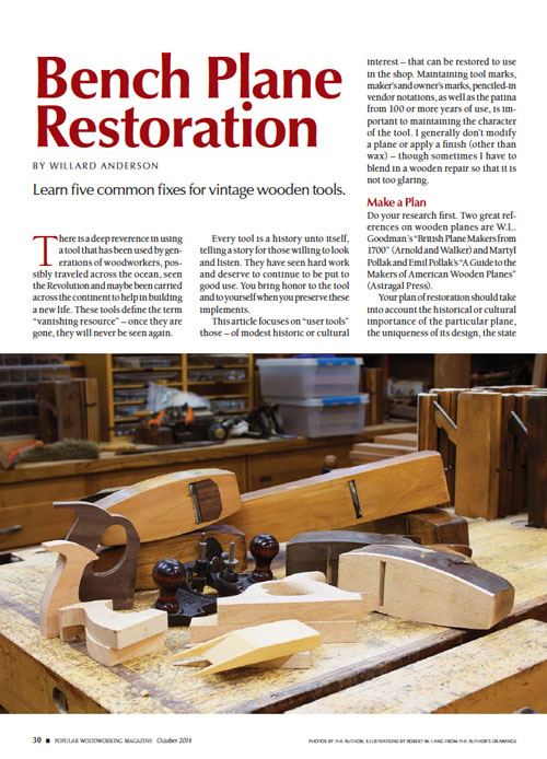 Bench Plane Restoration Guide