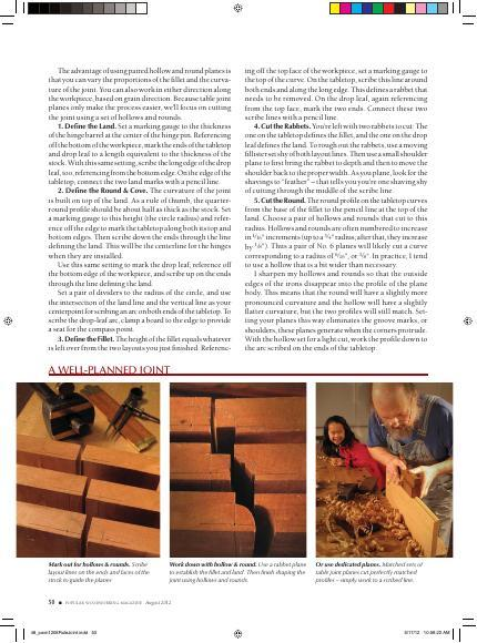 Further develop your understanding of rule joints by practicing making them both with and without power tools. Bill Anderson guilds you through both in this fascinating article from Popular Woodworking Magazine.