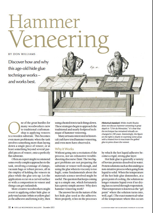 This veneering technique is historic, unique, interesting, and still appropriate to be used in today's world. Learn all about hammer veneering from Don Williams and get inspired to try it yourself.