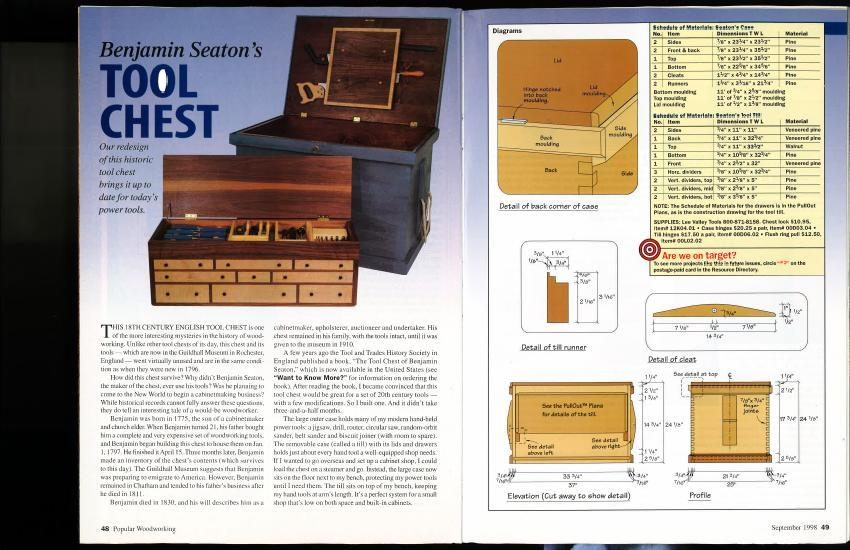 Build this 18th century tool chest with guidance from Christopher Schwarz.