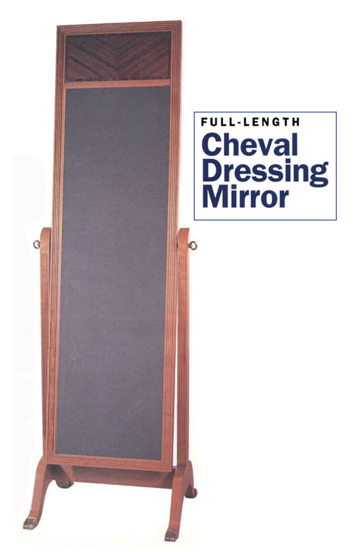 Full-Length Cheval Dressing Mirror