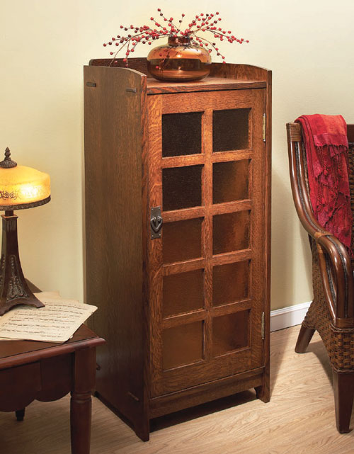 This small cabinet was originally intended to store sheet music, and although times have changed, it is a nice, small-scale piece of furniture.