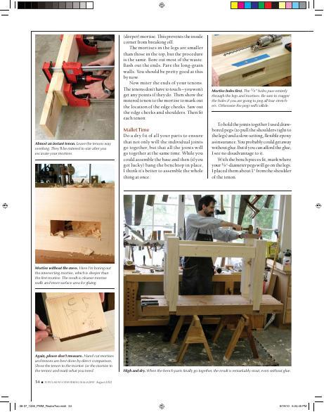 The Roubo workbench, one of the best-looking workbench designs, is also the simplest to build and most useful, no matter if you have a love affair with your plunge router or your router plane.