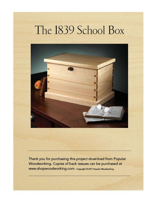 "You might want to make this school box from ""The Joiner and Cabinet Maker"" with nothing but hand tools."