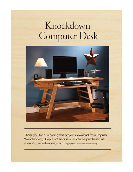 Knockdown Computer Desk