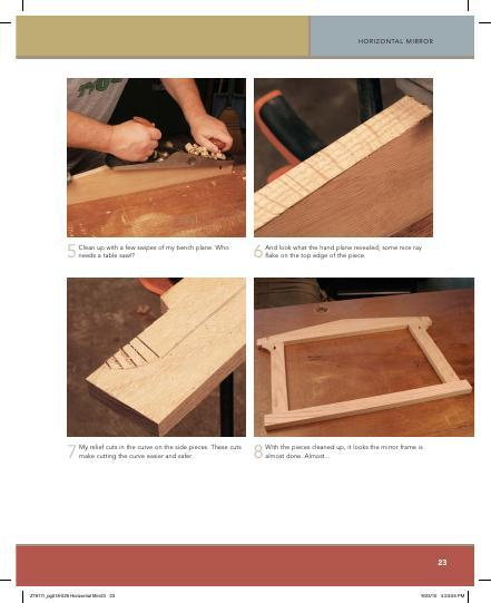 This simple Arts & Crafts horizontal mirror is assembled with pocket screws and makes a fast and simple project for your home of for a gift.