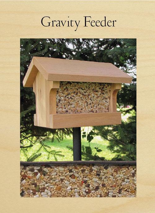 Using a tried-and-true design, this feeder can hold a large amount of chow.