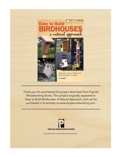 Functional for the birds, fun for you to build!