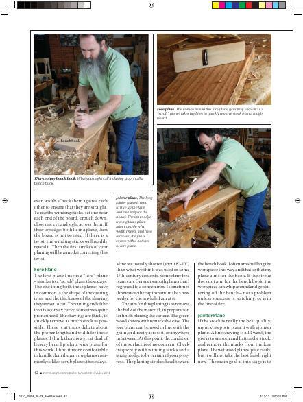 Learn how to produce stock for joinery projects.