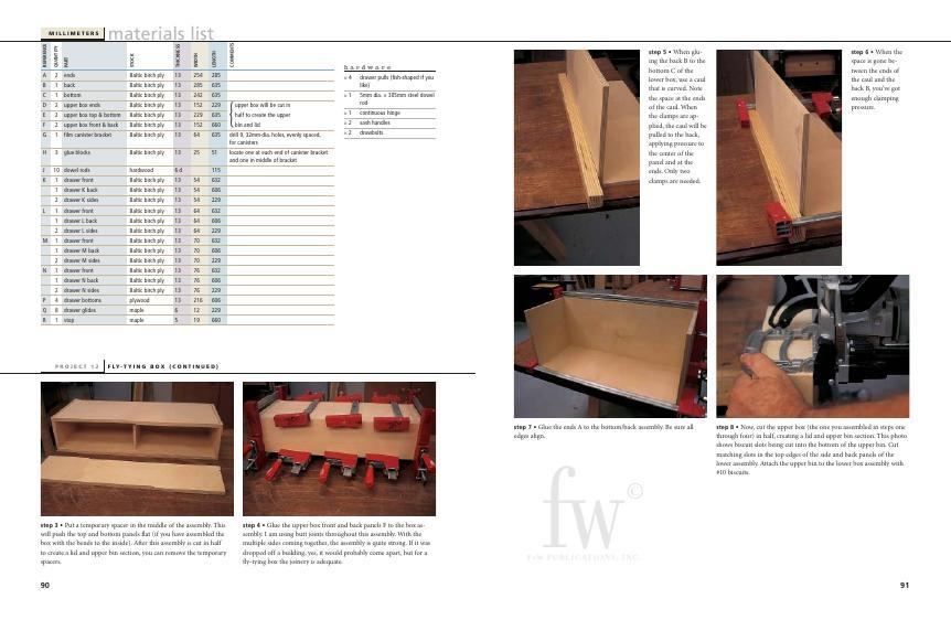 You can try casting about for a better fly-tying box but you won't find a more handsome organizer than this one crafted from very solid Baltic birch plywood.