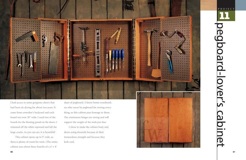 Imagine this … 9 long feet of cabinet space in which to hang your favorite tools!