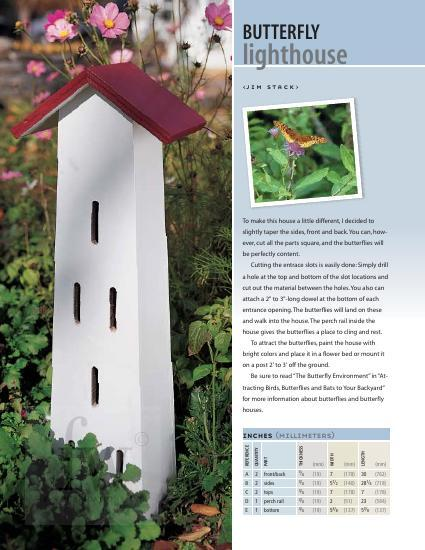 Assemble this easy-to-make butterfly house in an afternoon.
