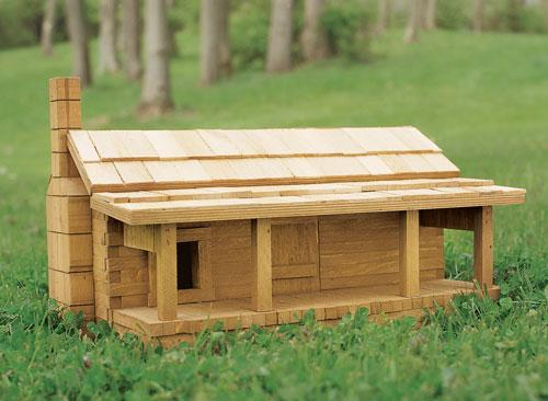 For the discriminating house sparrow nothing else will do but this rustic log cabin that doesn't take as long to make as you might think.