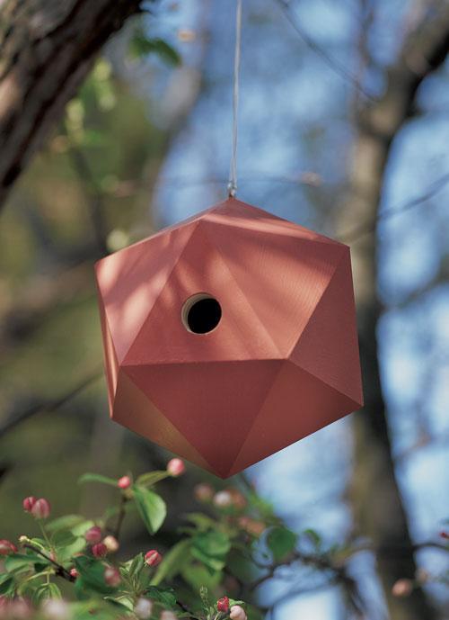 Icosahedron Wren Birdhouse