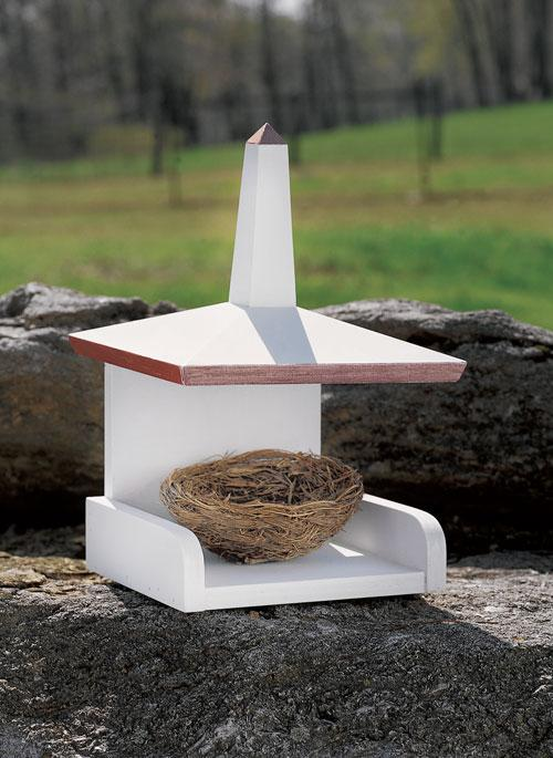 Japanese White Eyed Pagoda Birdhouse