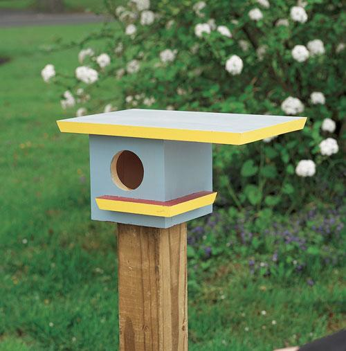 This birdhouse is for purple martins who prefer a single-family dwelling (as opposed to living in the purple martin condo birdhouse).