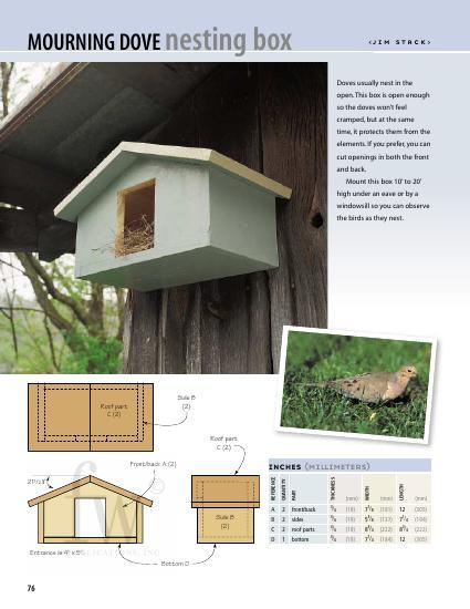 Protect these gentle birds from the elements with this spacious birdhouse that can be made in 3 steps and painted