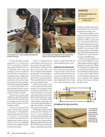 Get this article and learn how to make classic Greene and Greene details without a lot of fuss.