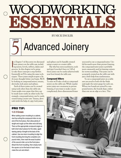 Woodworking Essentials Chapter 5: Advanced Table Saw Joinery