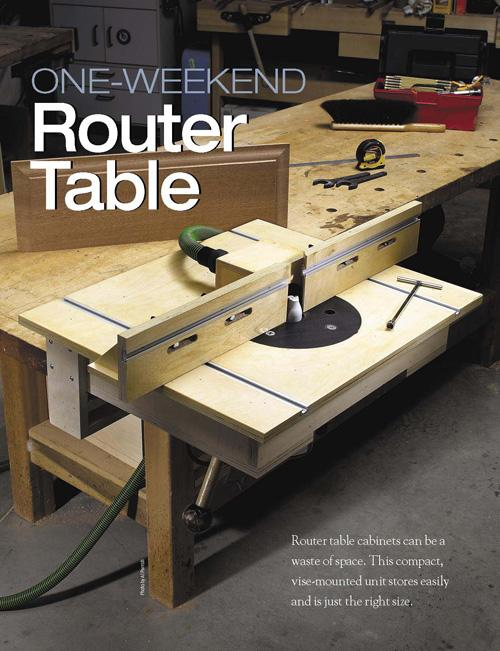 A router table can add a lot of capabilities to your shop.