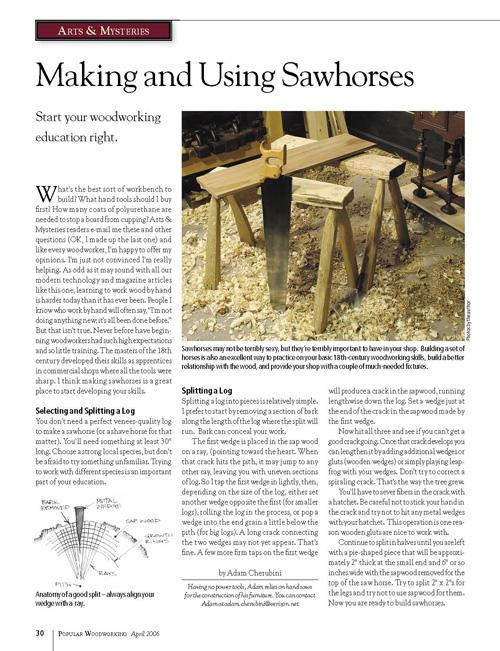 Arts & Mysteries: Making & Using Sawhorses