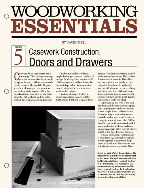 Casework Construction: Doors & Drawers