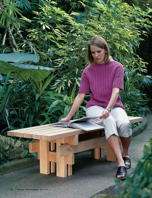 Building this garden bench could not be any easier. The only materials you will need are a few screws and some 2 x 4s.