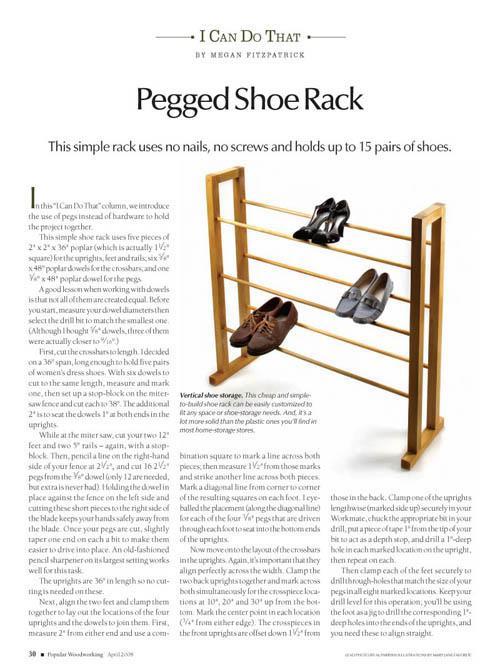 Pegged Shoe Rack