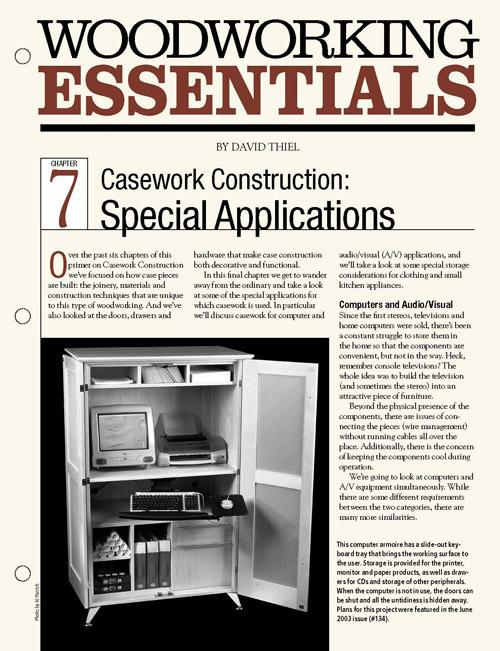 Casework Construction: Special Applications