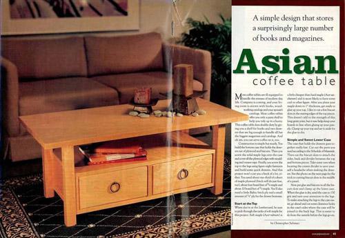 Asian Coffee Table