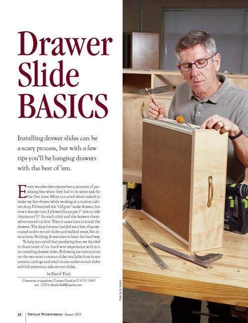 Drawer Slide Basics