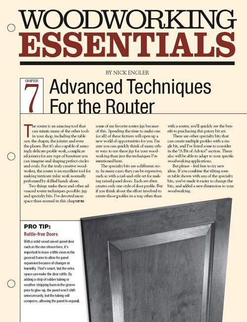 Woodworking Essentials Ch 7: Advanced Router Techniques