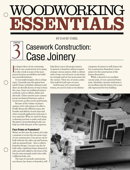 Casework Construction: Case Joinery
