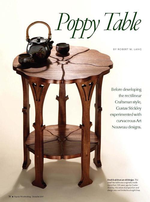 Gustav Stickley Poppy Table