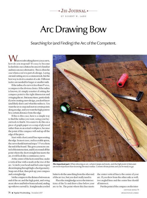 Jig Journal: Draw Perfect Arcs
