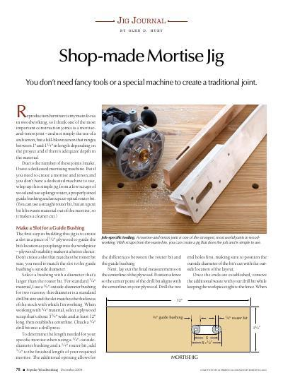 Jig Journal: Shop-made Mortise Jig