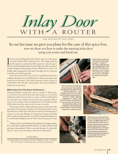 Pennsylvania Spice Box Part II: Inlay Door with a Router