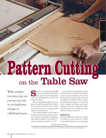 Pattern Cutting on the Table Saw