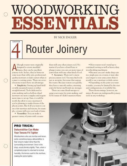 Our seven-part series on routers continues with everything you need to know about all the joints that can be made using a router.