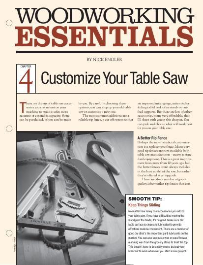 Woodworking Essentials Ch 4: Customize Table Saw