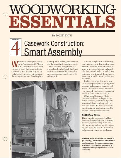 Chapter Four in our continuing series on casework construction provides you with valuable information and smart strategies for putting your project together.