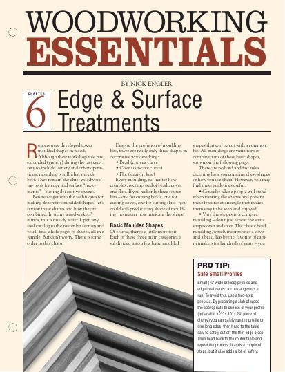 Woodworking Essentials Ch 6: Edge & Surface Treatments