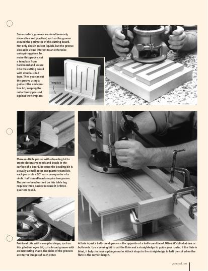 Our seven-part series on routers continues with this informative chapter showing you how to use your tool to make edge & surface treatments.