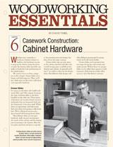 Casework Construction: Cabinet Hardware
