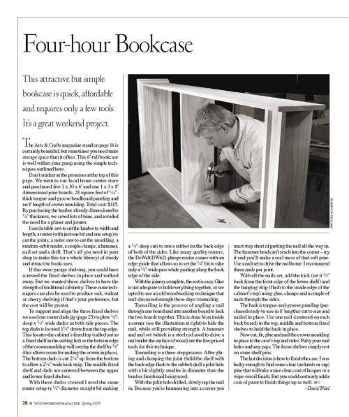 Four-Hour Bookcase