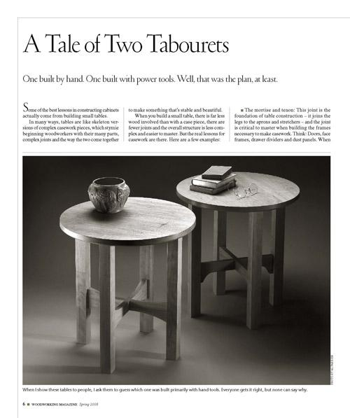 A Tale of Two Tabourets