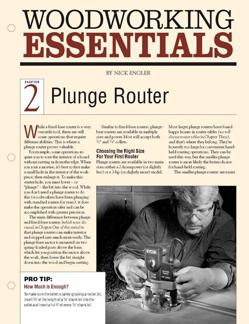 Woodworking Essentials Ch 2: Plunge Routers