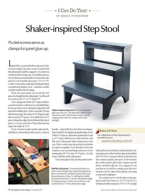 Shaker-Inspired Step Stool